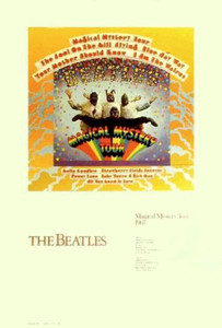 Beatles Poster Magical Mystery Tour Determined Productions Van Hamersveld 1987