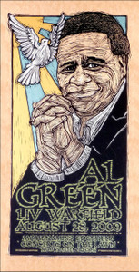 Al Green Poster Original Signed Silkscreen by Gary Houston