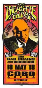 Beastie Boys Original Poster Handbill Cobo Arena Detroit 1995 Mark Arminski NM