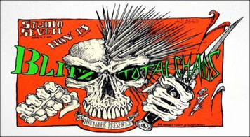 Blitz Total Chains Hardcore Punk Poster s/n 202 Hand Signed by Paul Imagine