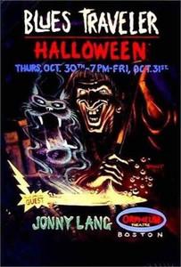 Blues Traveler Poster w Jonny Lang Boston Halloween 1997 SN by Bill Brent