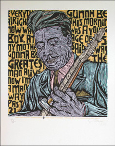 Muddy Waters Art Print Beautiful Etched Portrait SN Edition of 150 Gary Houston