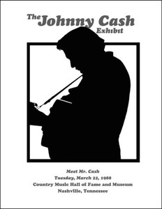 """""""The Johnny Cash Exhibit"""" 1988 Country Music Hall of Fame Poster Nashville"""