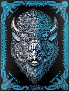 Avett Brothers Poster 2016 Weill Hall Rohnert Park Rare Blue Variant Todd Slater