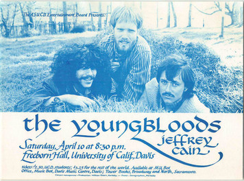 Youngbloods Original Handbill 1972 Freeborn Hall Davis California 1972 Flaw