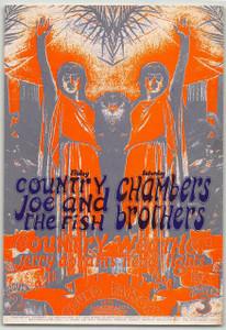 Country Joe & the Fish Original Handbill Sound Factory Sacramento 1968 Rare Mint
