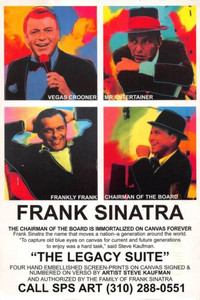 Frank Sinatra The Legacy Suite Screen Print Announcement Promo Postcard 1998