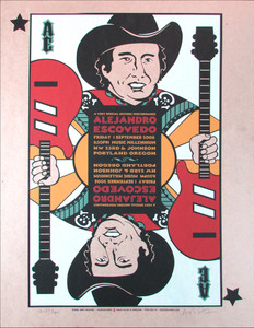 Alejandro Escovedo Poster Original Signed Silkscreen by Gary Houston 2006