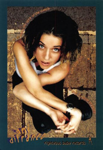 Ani DiFranco UP UP UP UP UP UP UP Righteous Babe Promo Postcard 1999