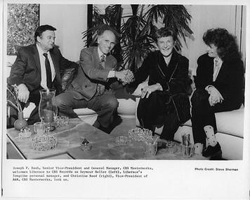 Liberace Signs to CBS Masterworks Vintage 8x10 Press Photo by Steve Sherman Rare