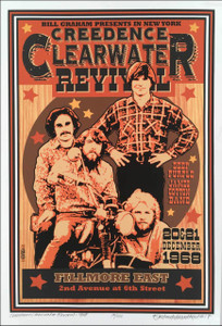 Creedence Clearwater Revival Poster New Fillmore East Tribute S/N 100 David Byrd