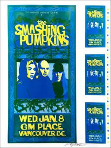 Smashing Pumpkins Poster Infinite Sadness Poster 1995 Signed Uncut Proof Y + C