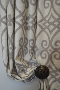 Madison Scroll Grey Pair Panels