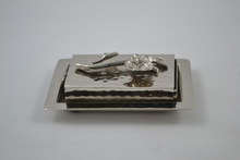 Matchbox and Tray Silver