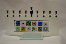 Glass 12 Tribes Menorah By Beames Designs