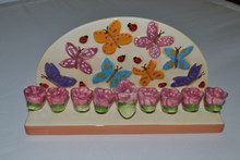 Butterfly & Tulip Menorah
