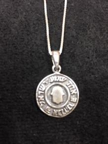 Sterling Silver Hamsa Medallion Necklace