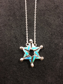 "Sterling Silver Jewish Star ""Butterfly"" Necklace"