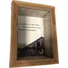Box Picture Frame from Reclaimed Wood