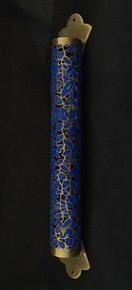 Mezuzah blue metal cut out