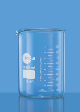 Borosil Beakers, griffin, low form, with spout