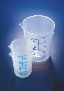 Azlon Beakers, PP, Tapered