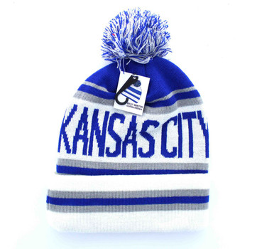 WB071 Kansas City Pom Pom Beanie (Royal Blue   White) - Ace Cap 8eab16c8f45