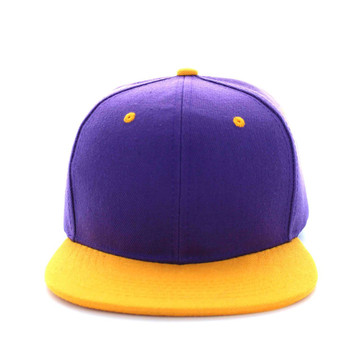 b9532f82334 SP018 Two Tone Snapback Cap (Purple   Gold) - Ace Cap