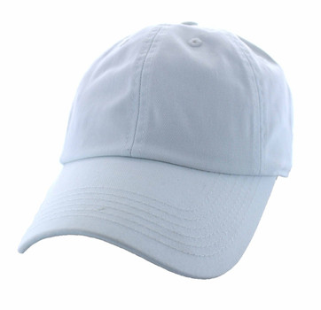 BP080 Washed Cotton Polo Style Caps (Solid White) - Ace Cap 030e6b003f5d