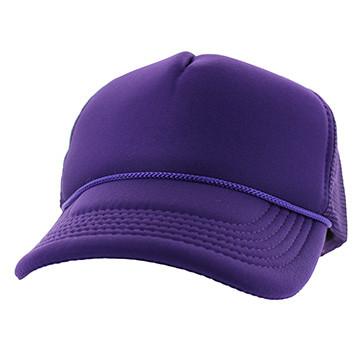 VP020 Blank Plain Foam Mesh Trucker Cap Hat (Solid Purple) - Ace Cap ... a4f1465c5b2