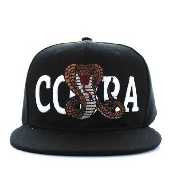SM590 Cobra Snapback Cap (Black   Black) - Ace Cap 13d1815a8e7