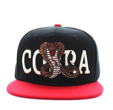 a53466ef11a SM590 Cobra Snapback Cap (Black   Red) - Ace Cap