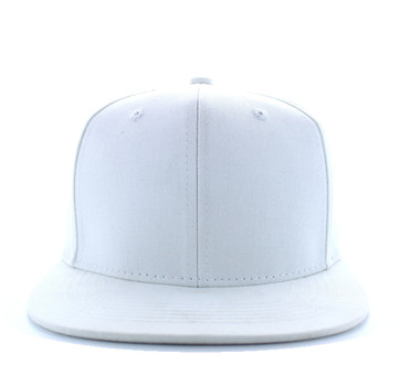 SP028 Blank Cotton Snapback (Solid White) - Ace Cap 5b6f14bc977