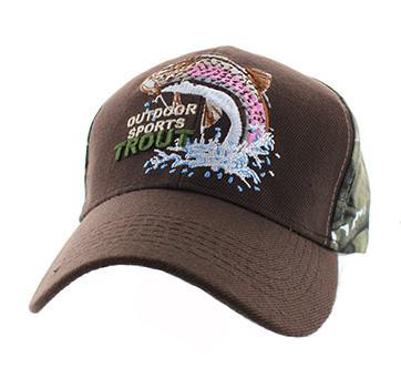 dda34c0611 VM655 Fishing Trout Velcro Cap (Brown   Hunting Camo) - Ace Cap