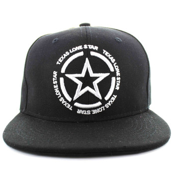 SM661 Texas State Snapback (Solid Black) - Ace Cap 36e31122dd01