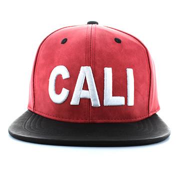 SM611 CALI PU Snapback (Red   Black) - Ace Cap fb03bc976c64