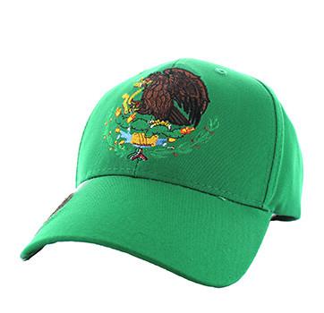 VM773 Mexico Cotton Velcro Baseball Cap (Solid Kelly Green) - Ace ... debc3a29447