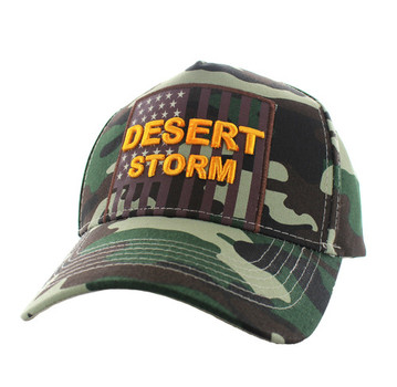 VM778 American USA Desert Storm Velcro Cap (Solid Military Camo ... 6a427c5c516