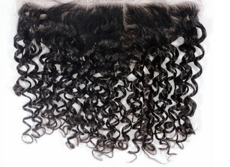 Brazilian  Spiral Curly  Lace Frontal