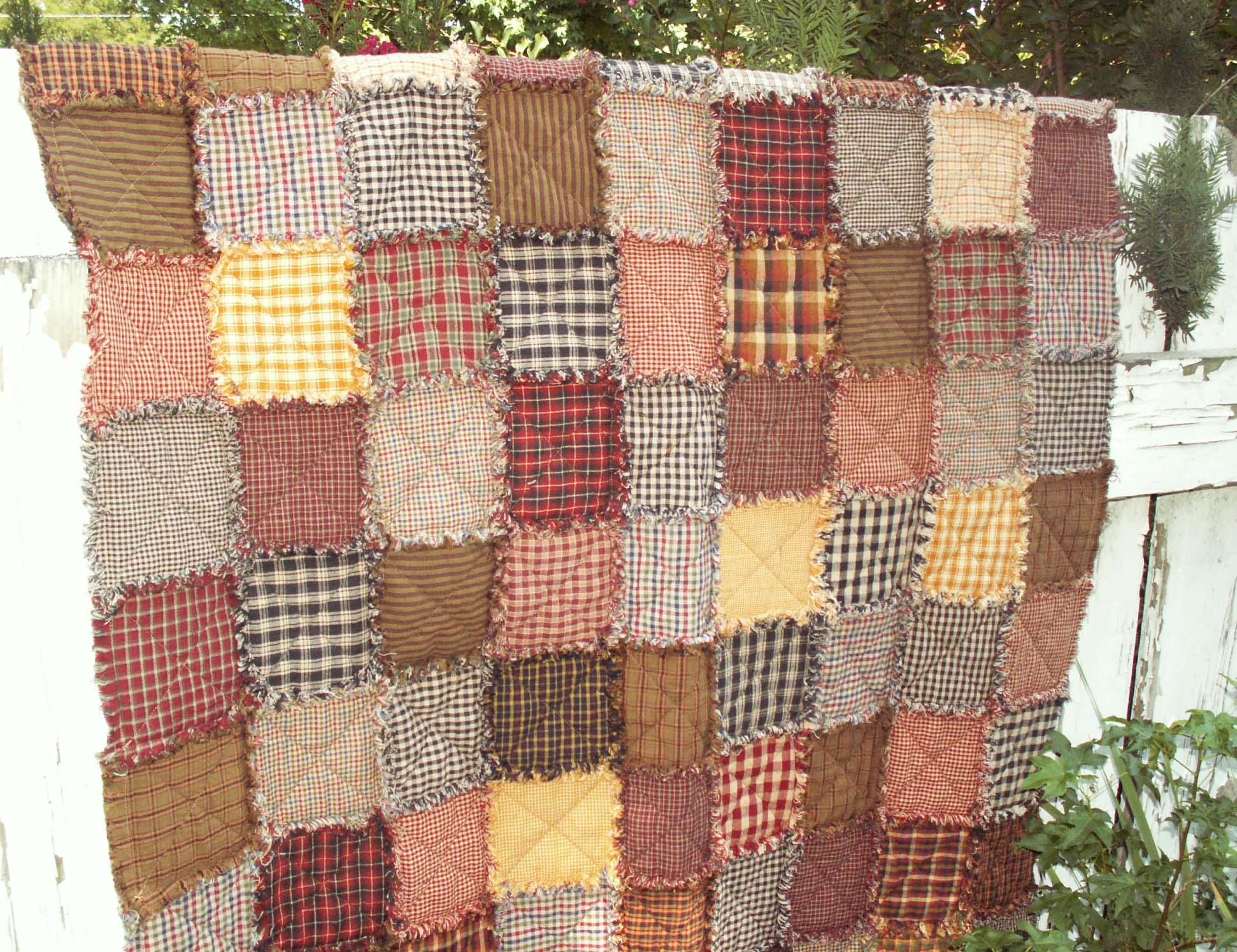 Ragged Frayed Homespun Quilts