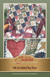 Folk Art Ragged Quilt Throw Pattern - DIGITAL