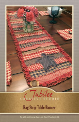 Rag Strip Table Runner Pattern - Forever Free! - Digital