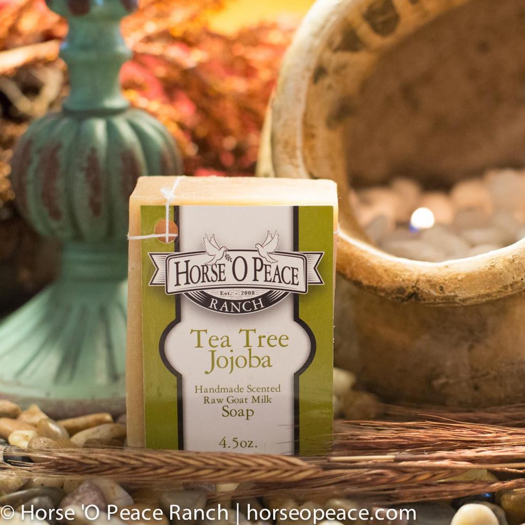 Handmade Goat Milk Soap 100% Raw | Tea Tree Jojoba Goat Milk Soap | Horse O Peace