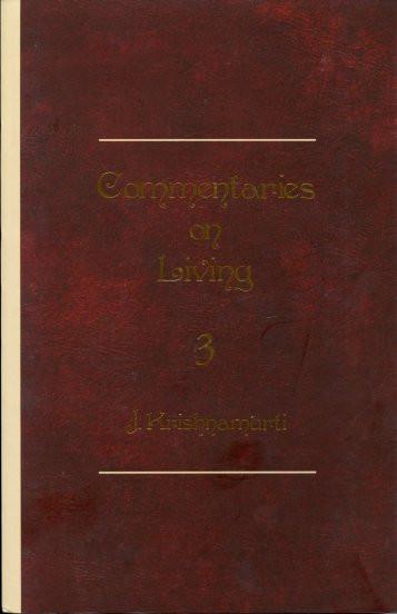 Commentaries on Living: Series III