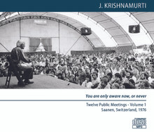 You are only aware now, or never (MP3 Disc) - Twelve Public Meetings, Saanen, 1976 (Two Volumes)