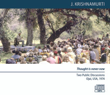 Thought is never new (MP3 Disc) - Two Public Discussions