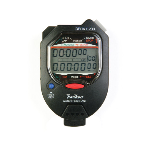 Hanhart 245.1946-WO Delta E 200 Black Digital Stopwatch