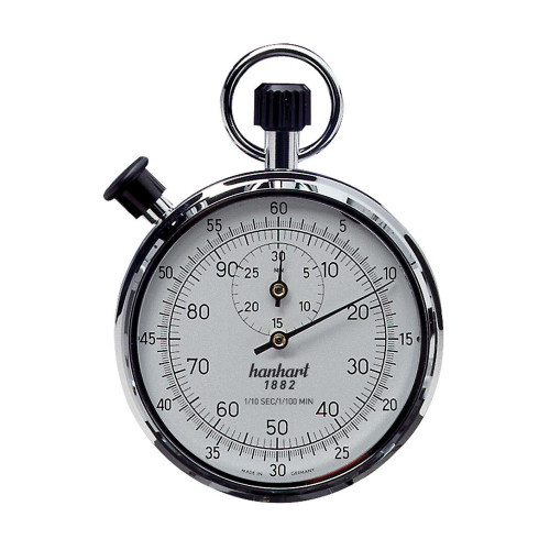 Hanhart 122.0301-VW Crown Stopper Mechanical Stopwatch