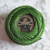 DMC Pearl Embroidery Thread Cotton Balls Size 5 - 904 Very Dark Parrot Green by Nakupunar.