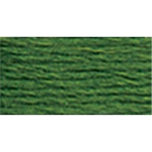 DMC Pearl Embroidery Thread Cotton Balls Size 5 - 904 Very Dark Parrot Green by Nakpunar.
